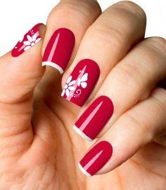 Peliculas Adesivos de Unhas Renda Borboleta Flowers - Cartela com 12