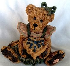 Bear with pie.-she is in my curio cabinet.