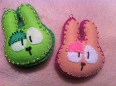 Felt Easter Bunny ornaments