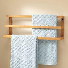 Veska+Bamboo+Mounted+Towel+Rack