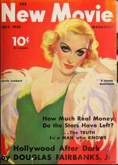 """Cover from a vintage fan magazine, """"The New Movie Magazine (Jul-Dec 1933)."""""""