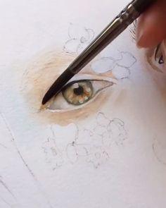 ideas for 2020 Painting portrait watercolors