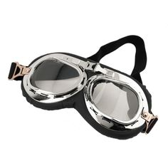 Anti-UV Vintage Motorcycle Goggles Pilot Biker Helmet Sunglasses Scooter Cruiser ATV Glasses Off-Road Motocross Racing Eyewear