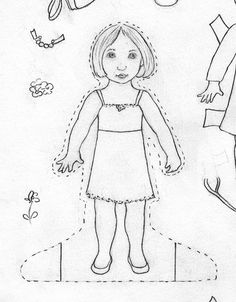 How to make paper dolls and design clothes for them. A Craftsy article ...