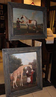 Some of our  XIXth century british oil paintings at Le Loft de Bamako.