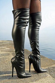 High-Heel Thigh boots - by Miceli - Made in Italy