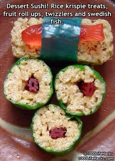 ok, i think this wold be super cute at a themed sushi party for kids or teens!!