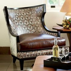 Wing Carved Chair King Ranch