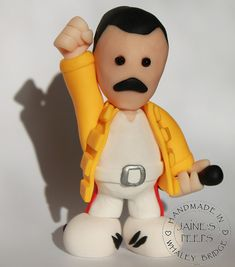 Freddie Mercury - Queen | Handmade in polymer clay and appro… | Flickr