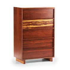 Greenington Magnolia Five Drawer Chest In Classic Bamboo