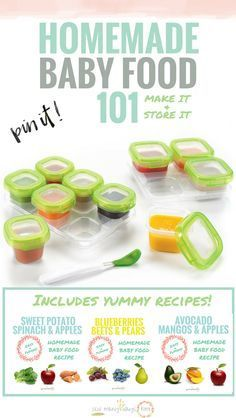 Baby Food Recipes And Storage Suggestions