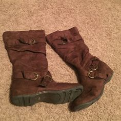 Size 10 brown boots! Super comfy and cute Fashionable brown boots Shoes Ankle Boots & Booties
