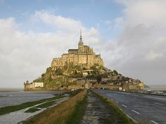 Mont St. Michele...we made it to the top and back before the tide came in!