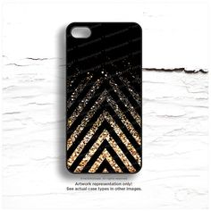 iPhone 6 Case Black, iPhone 5C Case Glow Texture Print, iPhone 5s Case Gold Glow iPhone 5 Case, Chevron Print, iPhone Case iPhone Cover N48