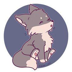 New drawing kawaii animals ideas - Süße Tiere - Animals Kawaii Anime, Kawaii Chibi, Kawaii Art, Cute Wolf Drawings, Cute Kawaii Drawings, Cute Kawaii Animals, Anime Animals, Baby Animals, Baby Art
