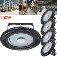 5pcs  250W UFO LED High Bay Lamp Gym Factory Industrial Warehouse Shed Lighting