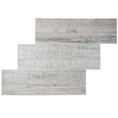 "EliteTile Origina 7.875"" x 25.875"" Porcelain Field Tile in Gray"
