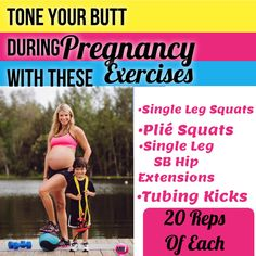 Pregnancy exercises to tone the butt and can be done from home with no equipment. Great pregnancy workout to try.  http://michellemariefit.publishpath.com/prenatal-workout-tone-your-prego-butt