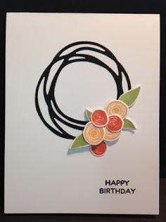 Swirly Bird, Swirly Scribbles, Birthday Card, Stampin' Up!, Rubber Stamping, Handmade Cards