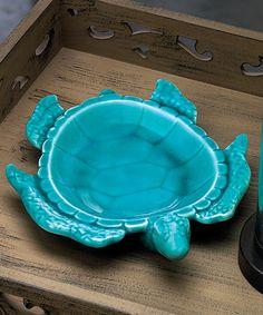 Look at this #zulilyfind! Turtle Decorative Dish #zulilyfinds