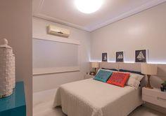 Decoração Azul da cor do mar e muita leveza no apartamento decorado. Blog Achados de Decoração