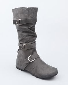 Grey boots I'd love these in grey and black and brown