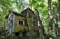 """Finland - Kruunuvuori """"Ghost Town"""" Helsinki - a beautiful forest site by the water with some ghostly abandoned wooden villas most of which were vacated in the 1970's."""
