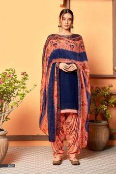 Patiyala Dress, Daily Wear, Ethnic, Dark Blue, Swarovski, Sari, Buttons, Suits, How To Wear