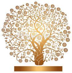 Vector gold tree Vector   Depositphotos 5653189