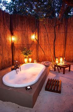 Rhino Post Safari Lodge - Kruger National Park, South Africa - luxe outdoor provisions at this glamping safari location ! NICE :)