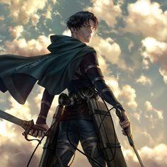 Attack On Titan Fanart, Attack On Titan Levi, Levi X Eren, Levi Ackerman, Fanarts Anime, Anime Characters, Anime Boys, Madara Susanoo, Snk Cosplay