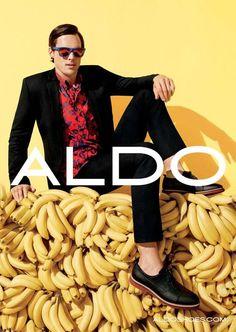 Matt Gordon going bananas for Aldo shoes