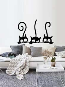 3 Cat Wall Decal Wall Stickers Home Decor Baby Room Wall Decals