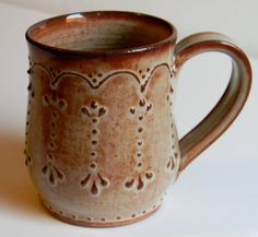 Handmade mug...The southern belle This is so much like something I would make. Love it!