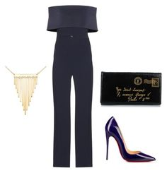 """""""Untitled #2"""" by melmonroe41 on Polyvore featuring Galvan, Simone I. Smith, Christian Louboutin and Yves Saint Laurent"""