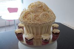 red velvet cupcake lavender flowers - Google Search