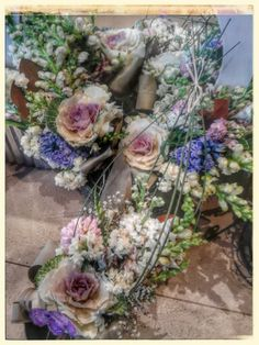 Vintage floral arrangements..beautiful winter flowers