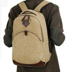 2017 wholesale mens cheap canvas backpack durable mens backpack china