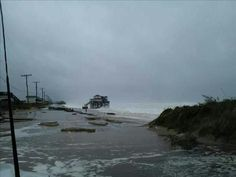 KDH and Kitty Hawk flooding | OBX Connection Message Board/ No dunes in Kitty Hawk as the sea washes over the beach road during hurricane Sandy 10/29/12  11:00 A.M.