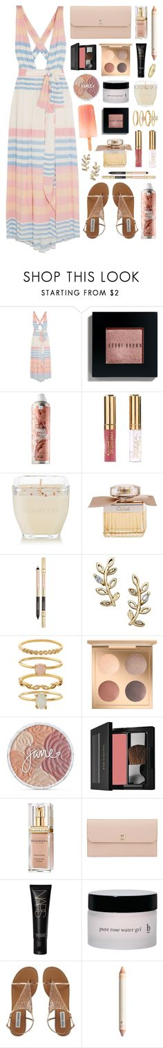 """""""Candy Stripes"""" by sophiehackett ❤ liked on Polyvore featuring Mara Hoffman, Bobbi Brown Cosmetics, Matter and Home, Chloé, Giani Bernini, Accessorize, jane, Revlon, Elizabeth Arden and Valextra"""