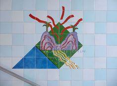 Querubim Lapa   Estação / Station Bela Vista   Metropolitano de Lisboa / Lisbon Underground   1998 #Azulejo #AzulejoDoMês #AzulejoOfTheMonth #QuerubimLapa #MetroDeLisboa