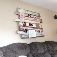 Pallet wood sign to hang pictures and art work