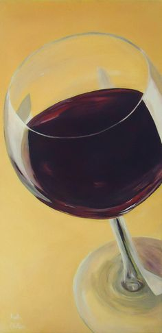 """Wine Glass Painting """"Glass Half Full""""  original acrylic painting by Katie Phillips, $175.00. Artwork perfect for the wine lover!"""