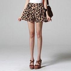 SARAH  Leopard-Print Shorts