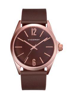5e0a919083bd  Reloj  Viceroy para mujer en marrón  chocolate y detalles chapados en oro  rosa