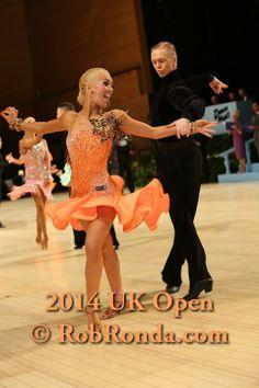 peach orange latin dress