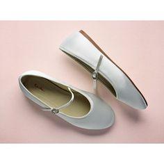 97e7216e6c5c Abigail - White Satin Kids Bar Shoes Flower Girl Shoes