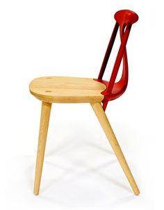 Corliss chair by Studio Dunn, via http://www.nytimes.com/2012/05/24/garden/craft-turns-heads-at-the-international-contemporary-furniture-fair.html