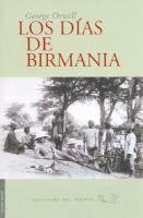 Los días de Birmania/  George Orwell