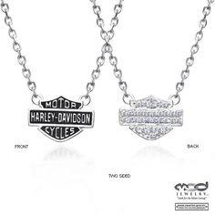 Harley Davidson Bling Purses | Harley-Davidson Womens Bling CZ B Necklace